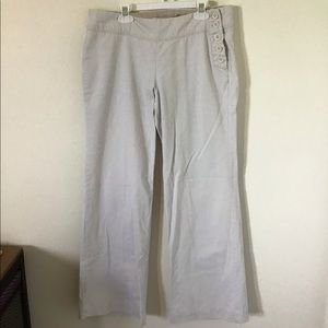 Off White Straight Leg Pants